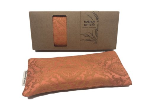 oogkussen met lavendel - kusala - oranje